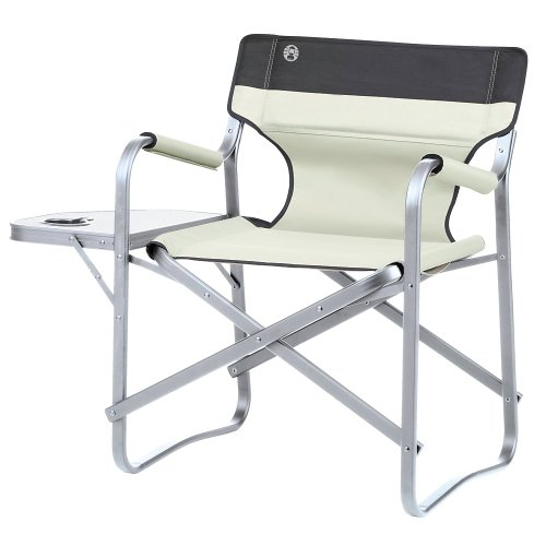Coleman Deck Chair Camping Chair with Table (Color: khaki) by Coleman