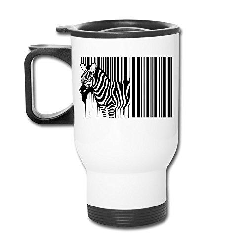12oz Travel Mug - Funny Zebra Bar Code Black Whit Mug