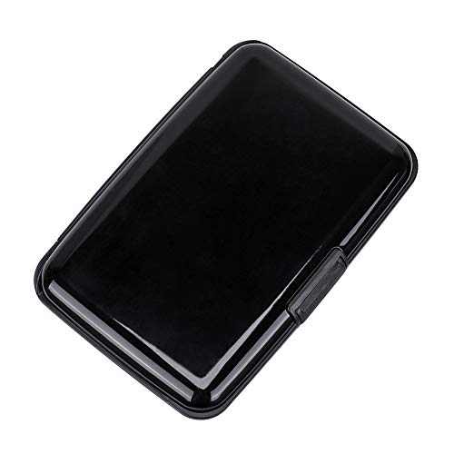 Elfish RFID Blocking Credit Card Protector Aluminum ID Case Hard Shell Business Card Holders Metal Wallet for Men or Women -