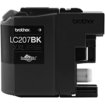 Brother Printer LC207BK Super High Yield Ink Cartridge, Black