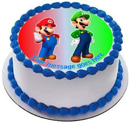 Mario & Luigi - Decoración comestible para tarta (19 cm ...