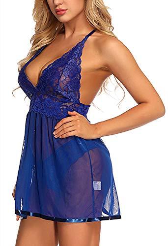 f33428055 Jual TGD Lingerie Plus Size Babydoll Set for Women V Neck Lace ...