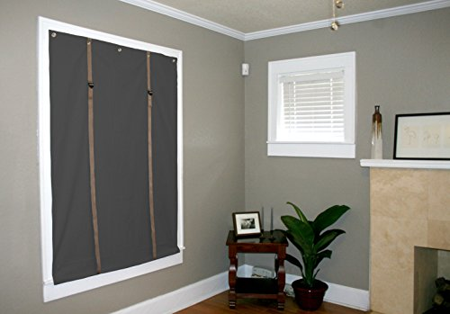 Soundproof, Thermal, Blackout Curtains By Residential Acoustics (Black and Tan, Very Large: 56″W x 74″L)