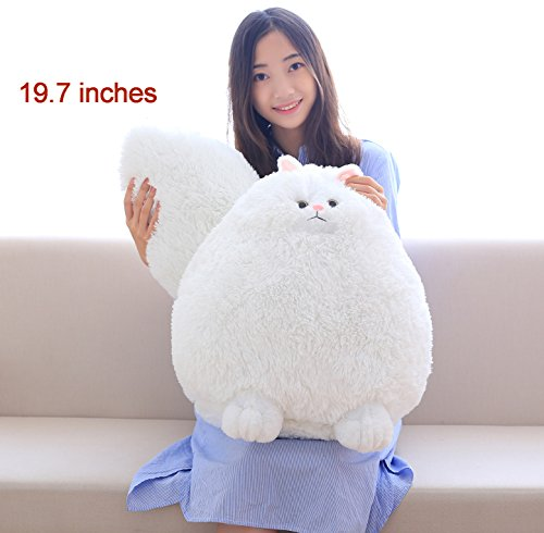 Fluffy Cat - Winsterch Giant Cat Stuffed Animal Plush Toy Kids Gift Baby Doll,Fluffy Cat Plush,19.7 inches