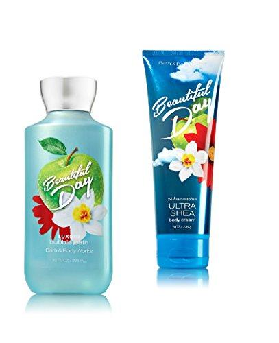 Beautiful Bubble (Bath & Body Works ~ 2016 ~ Signature Collection ~ Beautiful Day ~ Luxury Bubble Bath 10 FL Oz & Ultra Shea Body Cream 8 Oz ~ Gift Set)