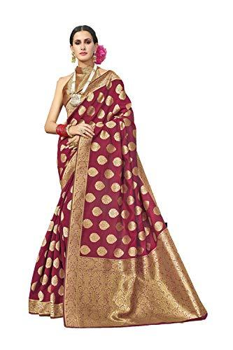 Da Facioun Indian Sarees For Women Wedding Designer Party Wear Traditional Sari. Da Facioun Saris Indiens Pour Les Femmes Portent Partie Concepteur De Mariage Sari Traditionnel. Marun 9 Maroun 9