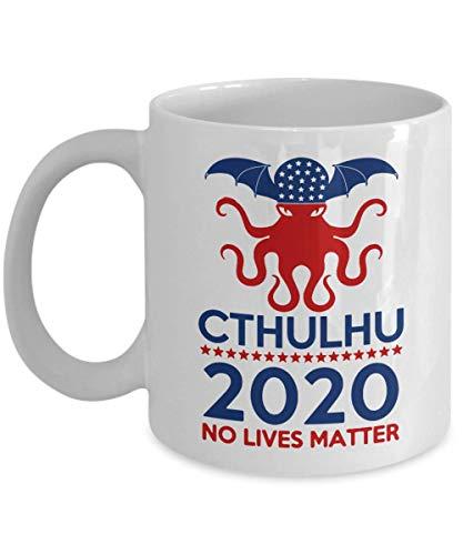 Cthulhu 2020 No Lives Matter Coffee Mug, Cthulhu Coffee Mug, Cthulhu Mythos Cup, Miskatonic University, Call of Cthulhu, Lovecraft Fan Gift Coffee Mu