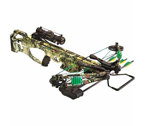 PSE Fang 350 XT Crossbow Package with 4x32 Multi-Reticle Scope Mossy Oak