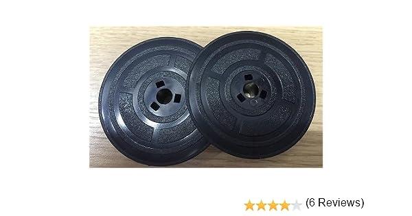 Bobinas de cinta de tinta para máquina de escribir de SMCO, para Olivetti Studio 42, 44, 45, 46, Lexicon 80. 2 bobinas, color negro /rojo: Amazon.es: ...