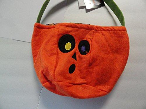 Felt Trick or Treat Basket - Lined - 2 Different Eye Colors