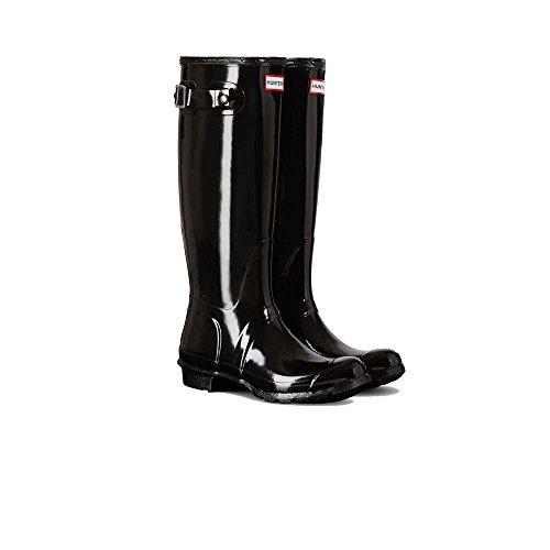 Price comparison product image Hunter Boots Women's Original Tall Gloss Boots, Black, 9 B(M) US