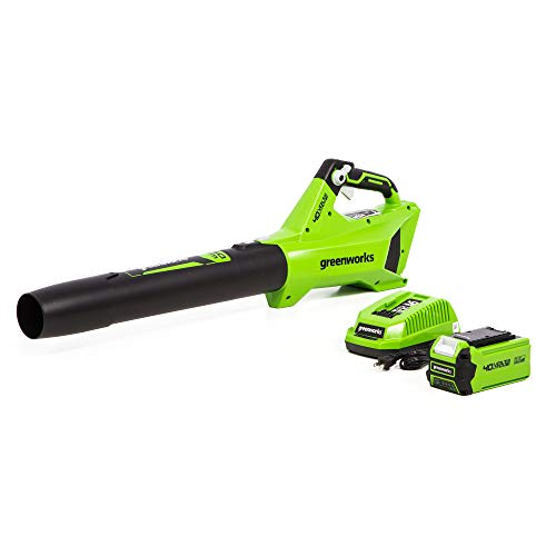 Greenworks BLF346 40-Volt Performance Jet Blower 2.5Ah Battery and Quick Charger Included
