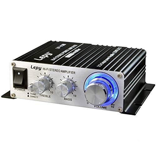 Mini amplificador de coche, audio para el hogar amplificador de potencia de alta fidelidad estéreo, D potente amplificador...