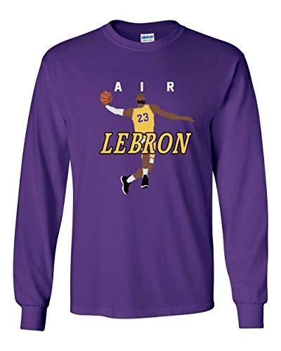 Long Sleeve Purple Los Angeles Lebron AIR PIC T-Shirt Youth