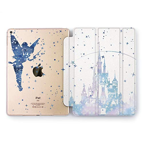 (Wonder Wild Blue Tinker Bell iPad Case 9.7 Pro inch Mini 1 2 3 4 Air 2 10.5 12.9 2018 2017 Design 5th 6th Gen Clear Print Smart Hard Cover)