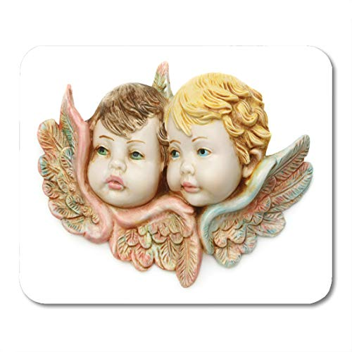 Emvency Mouse Pads Pink Cherub Blue Angelic Guardian Baby Angels White Boy Mouse Pad for notebooks, Desktop Computers mats 9.5
