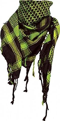 Palestinian Scarf - Black Neon Green (Palestinian Scarf For Men)