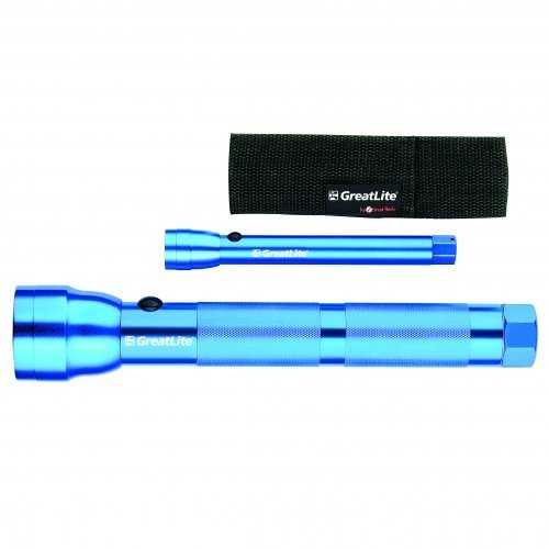 - GreatLite 32028 3D and 2AA Hi-Intensity Aluminum Flashlight Set, Blue by GreatLITE