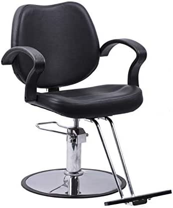 Beauty Style Classic Hydraulic Barber Chair Styling Chair Salon Beauty Equipment Black
