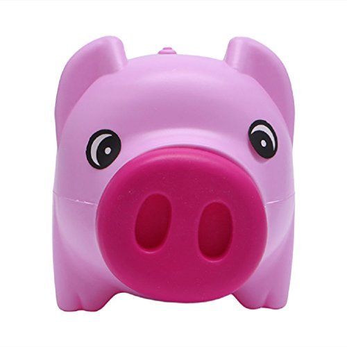 Kathson Piggy Bank Coin Money Cash Collectible Saving Box Pig Toy Kids Gift, pink,Plastic ()