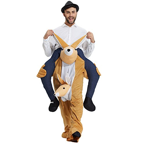 Yeahbeer Piggyback Ride On Riding Shoulder Adult Costume Carry Me Unisex Fancy Dress (Kangaroo)
