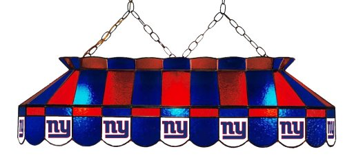 Giants Stained Glass - Imperial Officially Licensed NFL Merchandise: Tiffany-Style Stained Glass Billiard/Pool Table Light, New York Giants