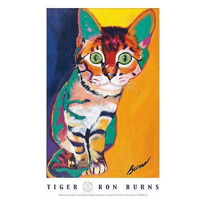 (Ron Burns Tiger Art Print Poster)