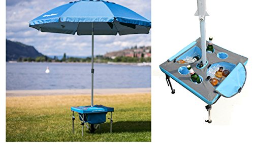 h Beach Umbrella - Anchor your Beach Umbrella, cool your drinks in the ice cooler. Works with all beach umbrellas including Tommy Bahama and Rio Brands beach umbrellas ()