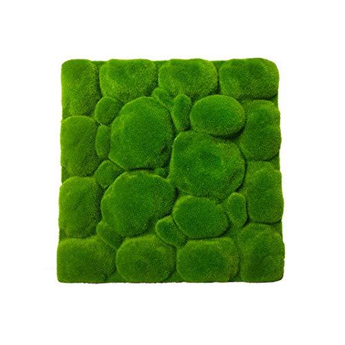 IHOMYIPET Artificial Lawns – Stone Shape Moss Grass – Grass Mat Indoor Green – Home Hotel Wall Balcony Decor 30x30CM…