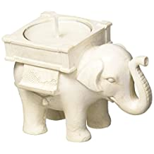 Kate Aspen 25062IV Tealight Holder, Lucky Elephant