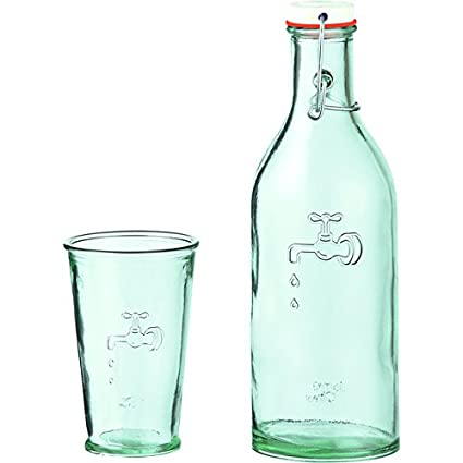 Jamie Oliver reciclado de vidrio Botella y Vidrio Set 2 por paquete