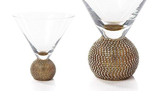 IMPULSE! Gold Biarritz Martini Glasses, Set of 4 Glasses