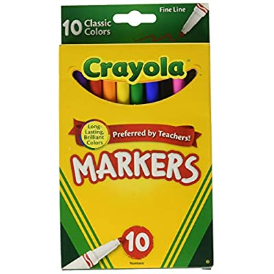 Crayola Markers, Fine Line, Classic Colors, 10 ct. (3 Pack): Arts, Crafts & Sewing