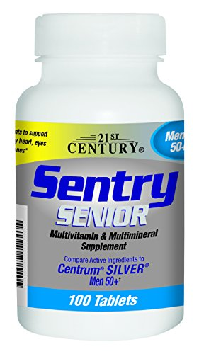 21st Century Sentry Senior Men 50Plus Tablets, 100 Count (Multivitamins Senior 100 Tab)