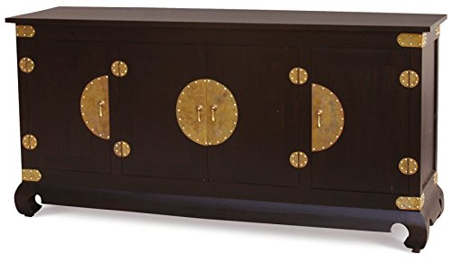 NES Furniture amz10210 Fine Handcrafted Ming Solid Mahogany Wood Sideboard Buffet, 72