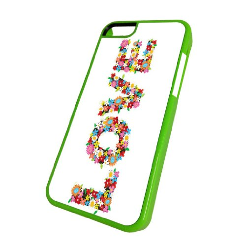 Love Flower Power - iPhone 5c Glossy Green Case