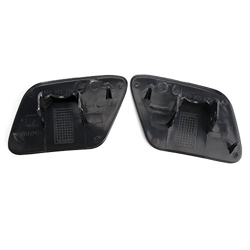 Qlhshop Car Front Bumper Headlight Washer Jet Cover Cap Unpaint For Audi A4 B6 Quattro 2002-2005