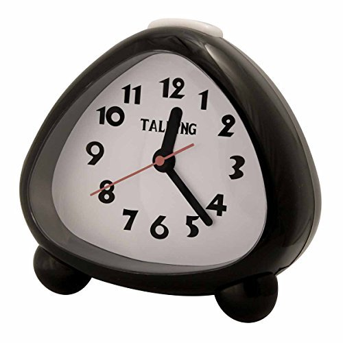 LS&S Talking Analog Faced Alarm Clock