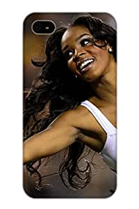 Flexible Tpu Back Case Cover For Iphone 4/4s - Cheerleader Nfl Football R