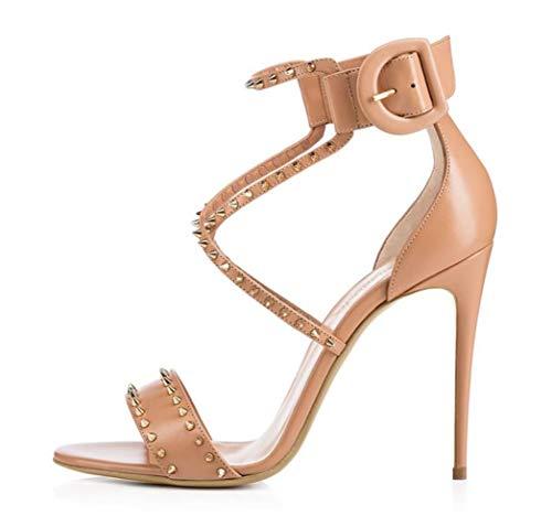 Mit Womens Schuhe Heels Party Bankett Größe Schuhe Stiletto Mode Nieten Shiney fSOqgw