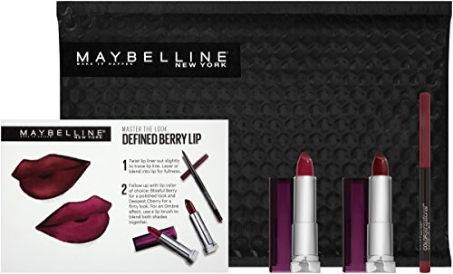 Maybelline New York Ny Minute Berry Lipstick Lip Liner Gift Set, Defined Berry Lip (Kit Color Lip)