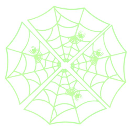 AISme Props Luminous Spider Web Wall Stickers For Halloween Party Glow Hanging Decorations