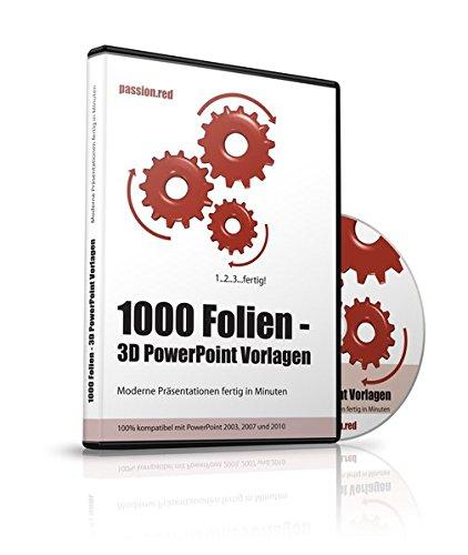 Amazon.com: 1000 Folien - 3D PowerPoint Vorlagen - Farbe: passion ...