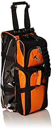 Hammer Triple Bowling Ball Tote with Removable Pouch, Black/Orange