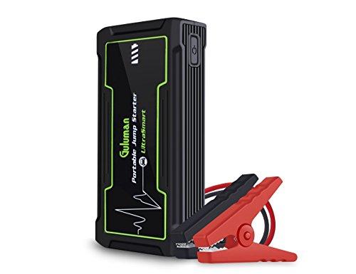 Guluman 800A 16800mAh Car Jump Starter, 12V Auto Battery Booster Jump Starter Pack, Portable Power Bank with LED SOS Flashlight