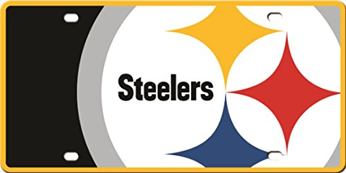 - Pittsburgh Steelers Printed MEGA Style Deluxe Laser Acrylic License Plate Tag Football