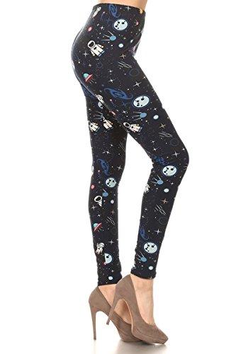 R966-PLUS Outer Space Print Fashion Leggings