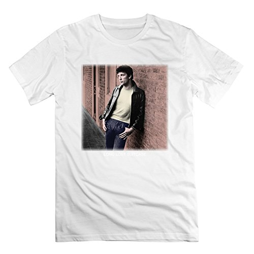 SAVIS 100% Cotton Men Tom Jones Long Lost Suitcase America's Musical Roots Tshirts White