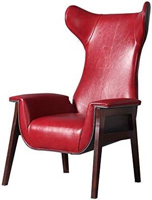 ソファー リビングルームのために赤いPUレザーで現代のアームチェア 家具 (Color : Red, Size : Free size)