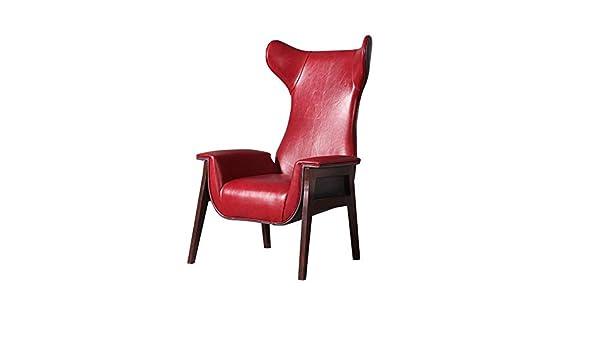 Kanqingqing Silla de Piso Butaca Moderna en Rojo Cuero de la ...